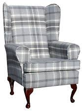 Tartan Armchairs Queen Anne Chair Vintage Chairs U0026 Armchairs Ebay