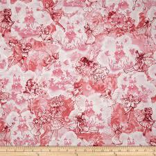 michael miller flower fairies dreamland metallic pink discount