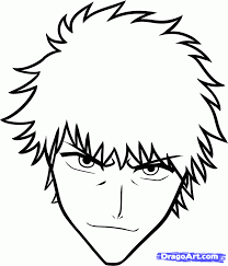 how to draw ichigo easy step by step bleach characters anime