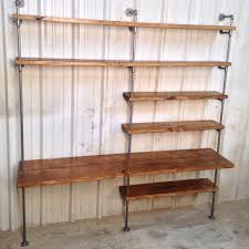 pipe shelving unit industrial bookcase w desk by industrialenvy