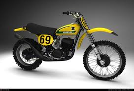 1970s motocross bikes 1974 suzuki rh works racer 69 reminds me of someone who rode