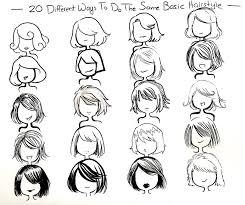 Cute Anime Hairstyles Twenty Ways You Can Draw One Hair Style By Neongenesisevarei