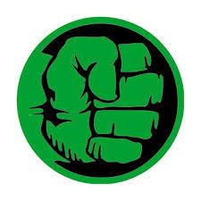 drawn hulk fist pencil and in color drawn hulk fist