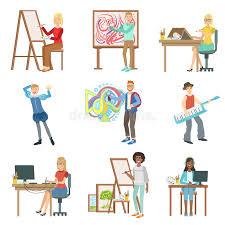 imagenes artisticas ejemplos diversas profesiones artísticas fijadas de ejemplos ilustración del