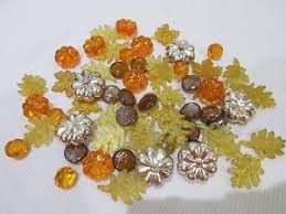 gems for table decorations 60 fall thanksgiving gems pumpkins leaves bowl filler crafts table