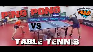 ping pong vs table tennis ping pong vs table tennis youtube