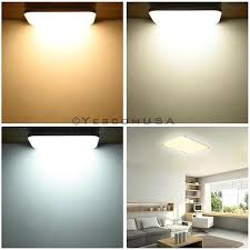 dimmable led ceiling lights 48w rectangle flush mount dimmable led ceiling light remote yescomusa