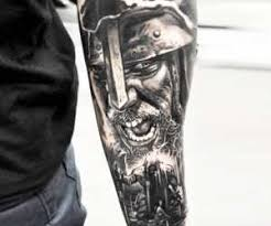 vikings hashtag tattoo