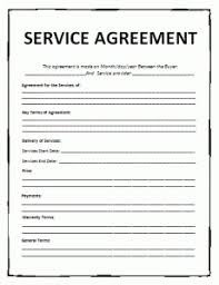 service agreement template free word templates
