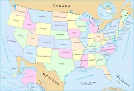 United States Map With Labeled States by Canada Printable Maps Americans Were Asked To Label A Map Of