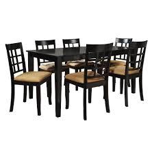 homesullivan 7 piece black dining set 40122d200w 7pc 712w the