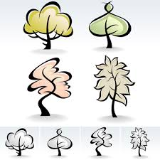 cute trees drawing cute tree vector graphics 04 vector plant free download