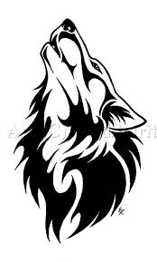 wonderful tribal wolf looking up stencil t shirt