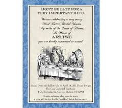 bridal tea party invitation wording bridal shower invitations free printable mad hatter bridal shower