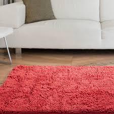 somerset home high pile shag rug carpet coral 21