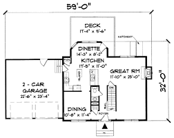 colonial style house plan 3 beds 2 50 baths 1851 sq ft plan 75 110