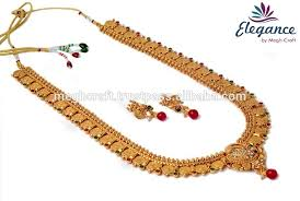 fashion long gold necklace images South indian long haram necklace set indian temple bridal jpg