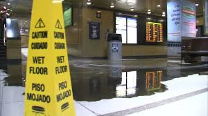 2nd pipe burst at union station this week abc7chicago com