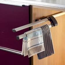 porte torchons cuisine porte torchon serviette aluminium coulissant accessoires de cuisines
