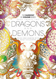 harmony colour book 22 dragons demons colouring 36