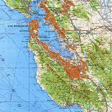 Michigan Elevation Map by Topographical Map Of San Francisco Bay Area Michigan Map