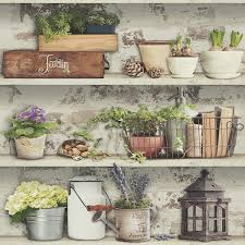 muriva generic home wallpaper lazy days potting shed sweet