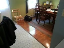 transition flooring to kitchen help
