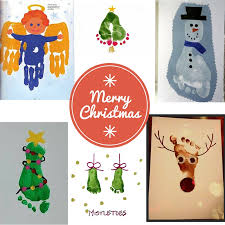 christmas card craft ideas contented childcare nanny