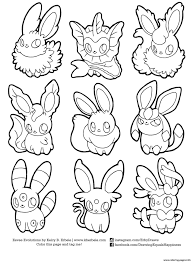 eevee evolutions coloring pages pokemon coloring pages eevee