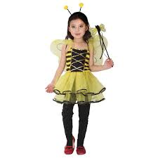 Halloween Costumes Bee Aliexpress Buy Girls Honey Bee Dress Child Insect Cosplay