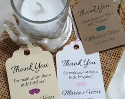 candle favors candle favor tags etsy