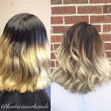 ombre hair growing out from abrupt ombré to soft color melt hair color modern salon
