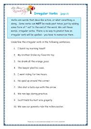 grade 3 grammar topic 39 irregular verbs worksheets lets share