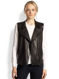 leather motorcycle vest j brand madisyn leather motorcycle vest in black lyst
