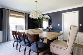 blue dining room table blue dining room with wood klismos chairs transitional bedroom