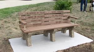 Teak Memorial Benches Eco Friendly Memorial Benches Doty And Sons Concrete Products Inc