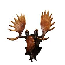 moose deer hanging wall mural animal living room retro
