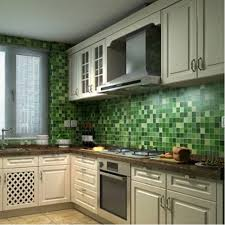 Aluminum Backsplash Kitchen Aliexpress Com Buy Anti Oil Wallpaper Waterproof Mosaic Aluminum