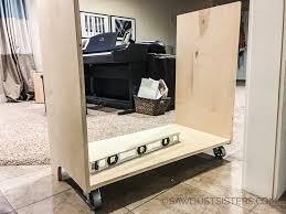 Cabinet For Mini Refrigerator Diy Mini Refrigerator Storage Cabinet Free Plans Sawdust Sisters