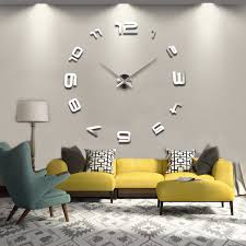 home decor hours diy wall clock sticker modern design large clocks big wall watch