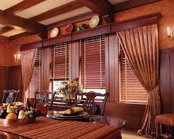 hunterdouglas country woods exposé wood cornices dining room