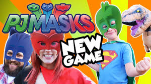 Real Looking Halloween Masks Pj Masks New Game Dinosaur In Real Life U0026 Catboy Owlette Gekko
