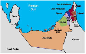 map of the uae seven emirates seven sands the hawker