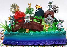 tom and jerry cake topper tom and jerry birthday cake topper set featuring tom
