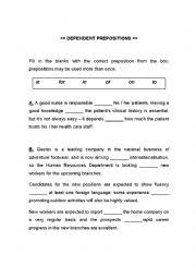 english exercises 3 exercises dependent prepositions