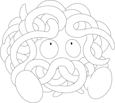 tangela pokemon coloring free printable coloring pages
