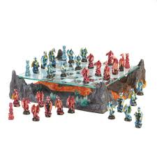 bkd superstore fire river dragon chess set