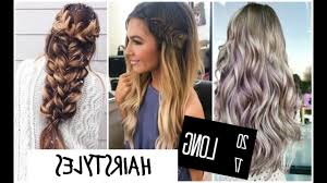 long hairstyles and color fade haircut