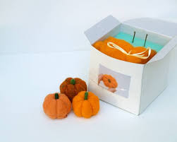 pumpkin felting kit wool felt kit inhabitots