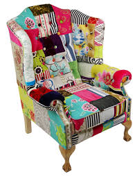button queen by kelly swallow upcycled patchwork chair sable u0026 ox